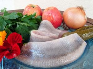 Zutaten für die Matjes nach Hausfrauenart